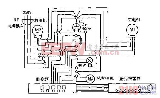 万家乐YPF5-4抽油烟机电路图.gif