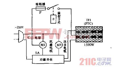 格力QG15机械控制台壁式多用途暖气机电路图.gif