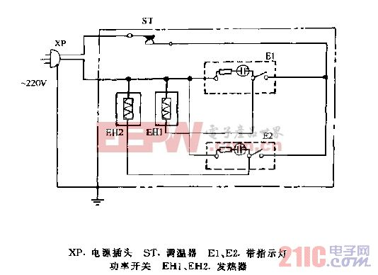 东风DFN-15A,DFN-20A,DFN-25A,DFN-30A充油式电暖器电路图.gif