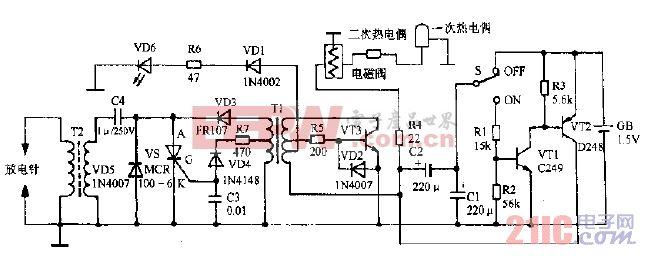 萬家樂JSYZ5-AI燃氣熱水器電路圖
