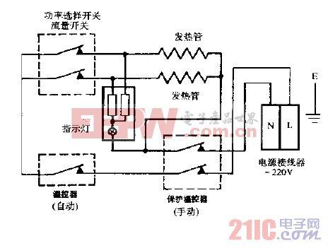 >电热水器  万家乐wd30-bf储水式电热水器电路图