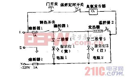 夏尔YB-5LH-X消毒,温热饮水机电路图.gif