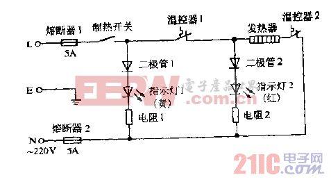 夏尔YB-5LH-C温热饮水机电路图.gif