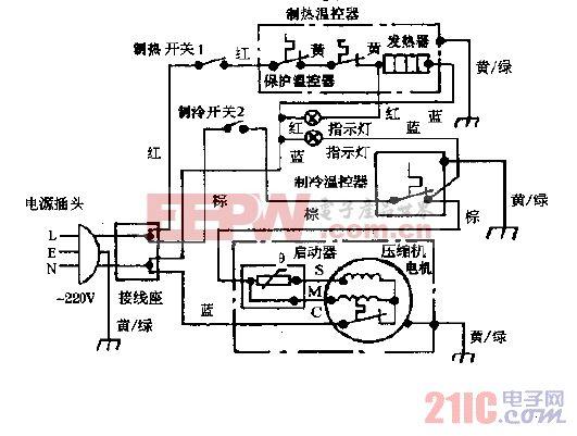 万宝YBR4-6,YBR4-6A冰热饮水机电路图之二(改进型).gif