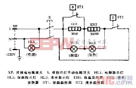 司迈特RL-175D储藏柜式温热饮水机电路图.gif