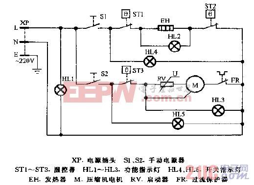 司迈特LRT-275D冰热饮水机电路图.gif