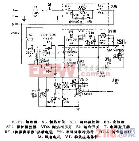 顺康RYL-5型冰热饮水机电路图.gif