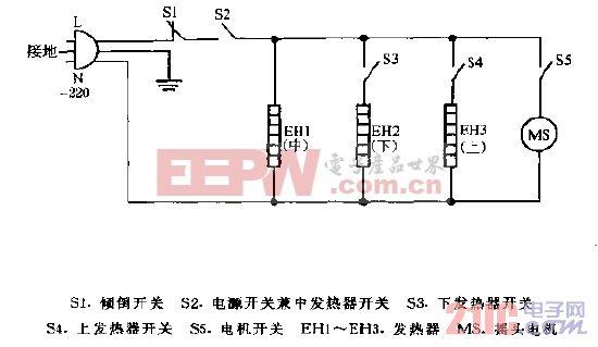 金宝牌PH-8,PH-12,NL-8,NL-12豪华型远红外电暖器电路图.gif