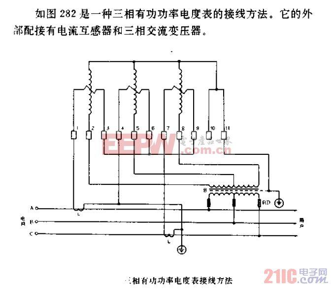 三相有功率电度表接线方法.gif