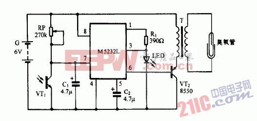 巧用M5232L作臭氧发生器电路图