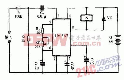 巧用LM567作发电机保护器电路图