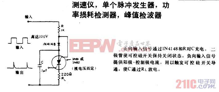 测速仪 单个脉冲发生器 功率损耗检测器电路图.gif