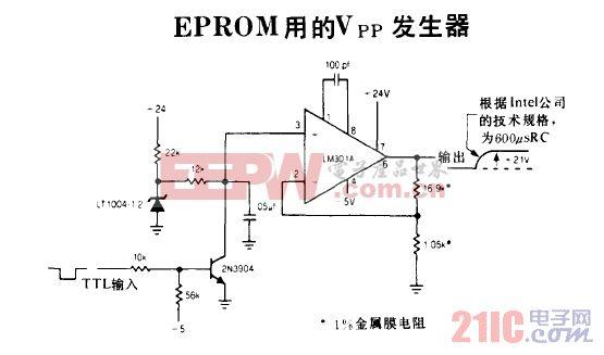 EPROM用的Vpp发生器电路图.gif