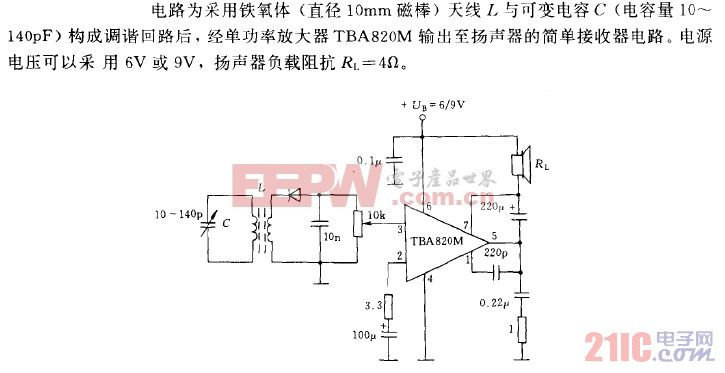 频率范围为0.5至1.5MHz的调幅接收机电路.gif