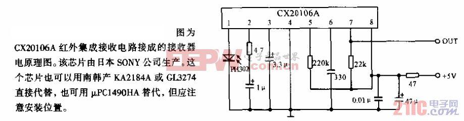 CX20106A 红外集成接收器.gif