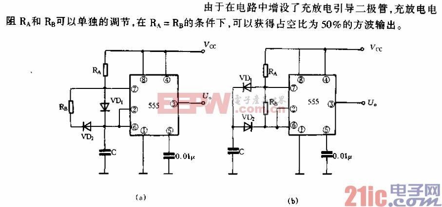 加有引导二极管的多谐振荡器电路.gif