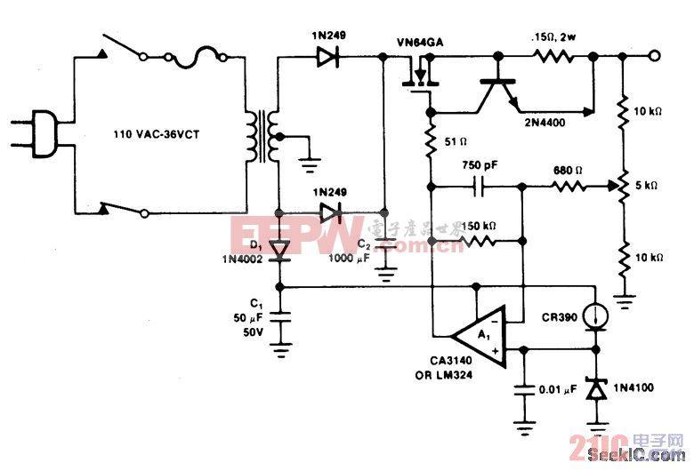 14V,4A电池充电器/电源