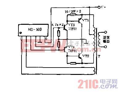 输出管用大功率三极管(达林顿管)的电路图.gif