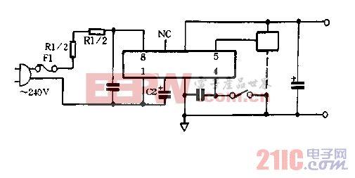S-405A的4脚为0的稳压电路图.gif