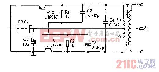 6VDC-220VAC逆变器电路图.gif