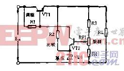 晶体管式稳压电源电路图.gif