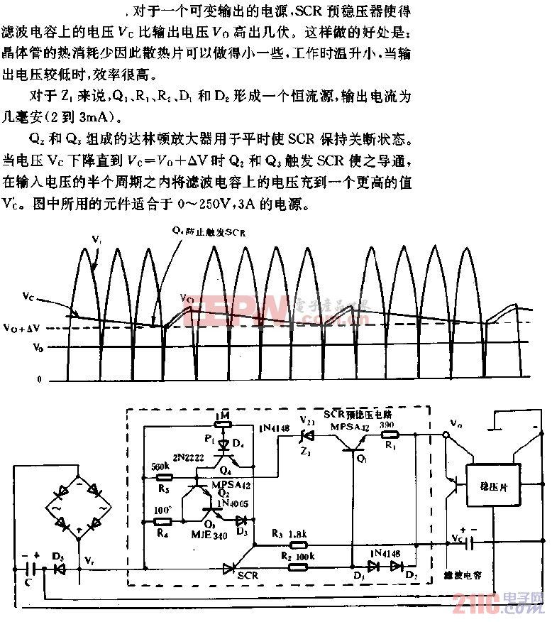 适合任何电源的SCR预稳压器电路.gif