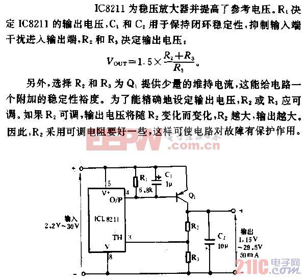 使用PNP晶体管放大的稳压器电路.gif