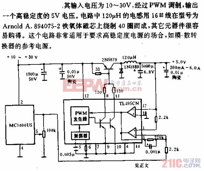 高稳定度25kHz开关电源电路.gif