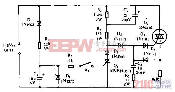 100V交流稳压电源电路图片