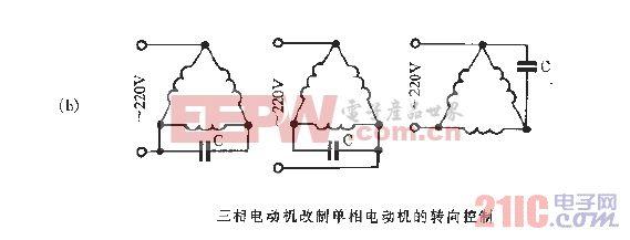 三相电动机改制单相电动机的转向控制_2.gif