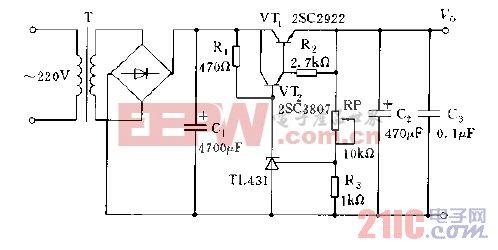 稳压电源电路图图片