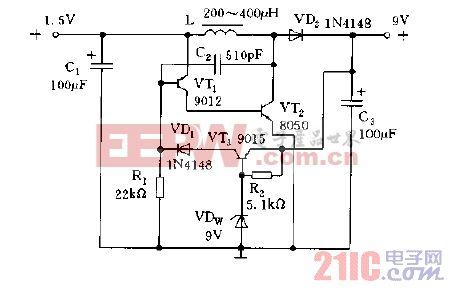适用于万用表中的直流变换器电路图c.gif