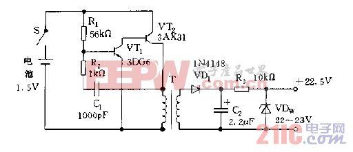适用于万用表中的直流变换器电路图a.gif