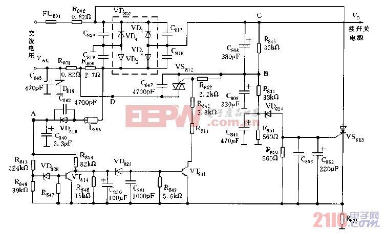 大屏幕彩电交流输入电压自动转换电路图a.gif