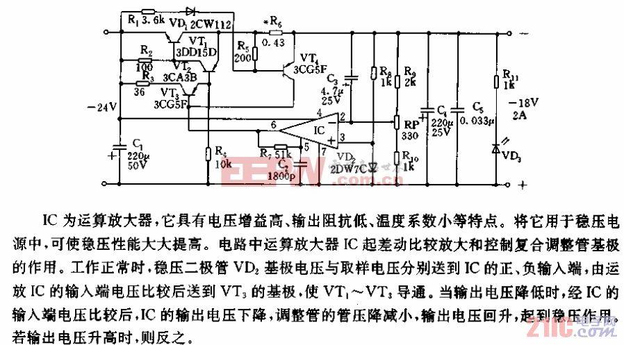 串联型-18V、24A稳压电源电路.gif