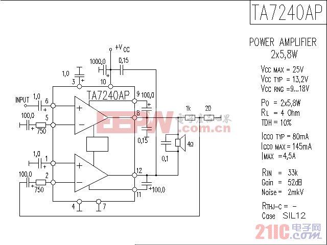 TA7240AP音响IC电路图.gif
