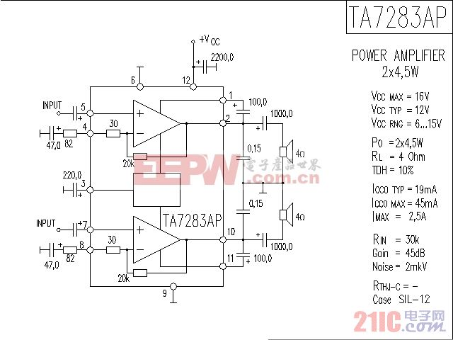 TA7283AP功放电路图.gif