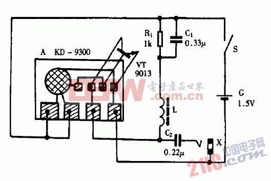 巧用KD9300作简易信号发生器电路图