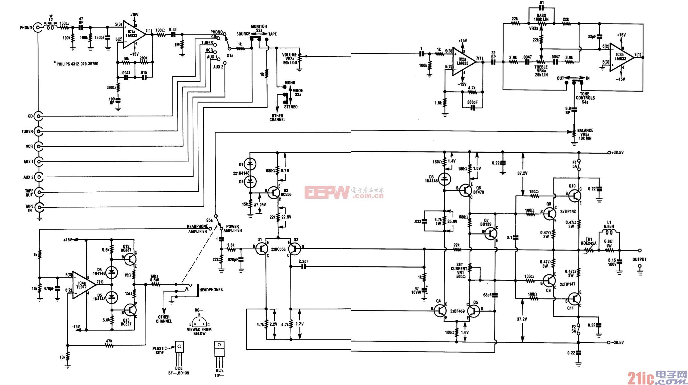 音频 放大器/双音频放大器电路图