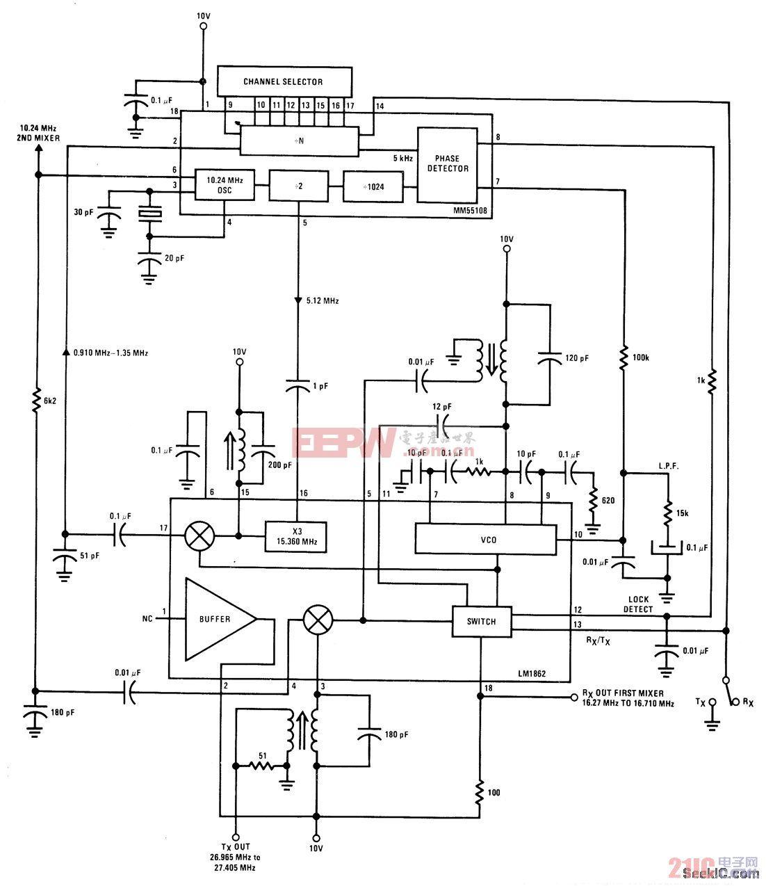 双转换频率合成器电路图