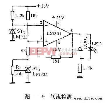 LM135气流检测电路图