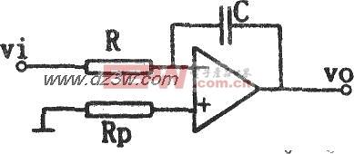如图所示为基本反相积分电路.该积分电路由运算放大器和电阻、电容