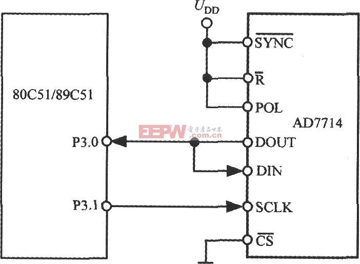 ad7714与51单片机的接口电路图
