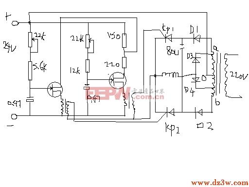 最大输出功率可达300瓦可控硅逆变器