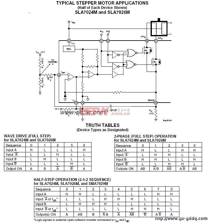 用SLA7024M和SLA7026组成的步进电机驱动电路