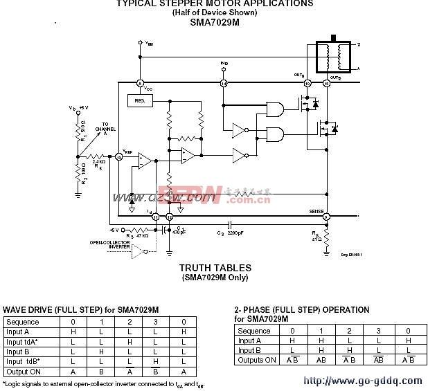 SMA7029构成的步进电机驱动电路