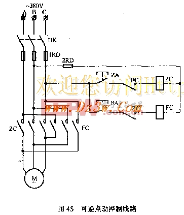 电机可逆点动控制电路图图片