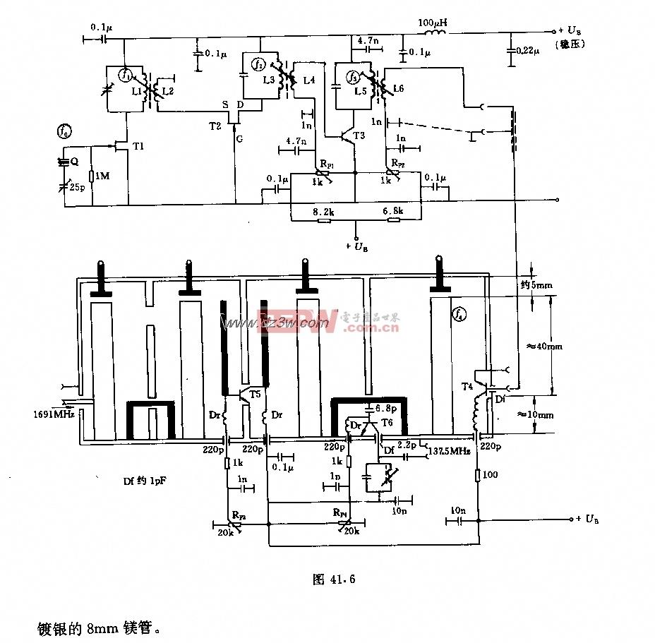 接收机振荡及变频器电路图