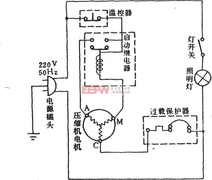 沙松牌BC-140电冰箱电路