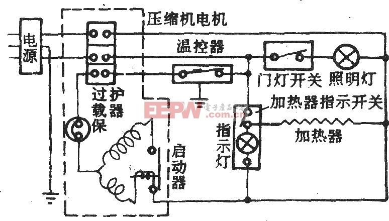 美菱-阿里斯顿牌BCD-185E冰箱电路图
